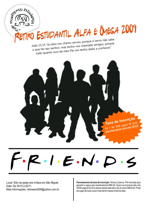 Cartaz Friends Web